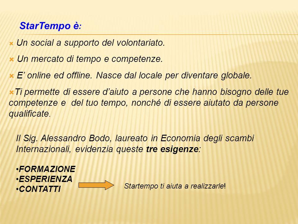 StarTempo è :  Un social a supporto del volontariato.