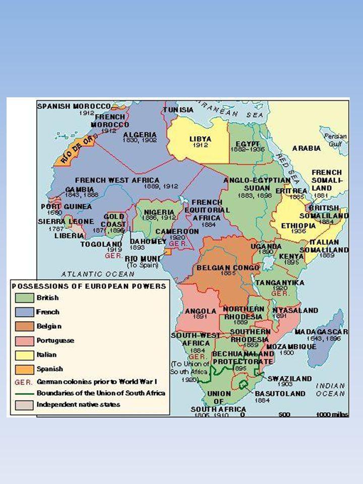 I nuovi stati si trovarono in un mare di miseria, corruzione, degrado, conflitti etnici, sfruttamento incontrollato delle risorse: -il Congo, ricco di diamanti, oro, rame e uranio venne dilaniato in una guerra civile in cui entravano conflitti etnici e interessi economici delle potenze europee; -in Nigeria ci fu la secessione del Biafra, la regione più ricca di petrolio ('67-'70); -l'Angola fu teatro di una guerra civile più che ventennale per il controllo dei diamanti e del petrolio ('75-'02).