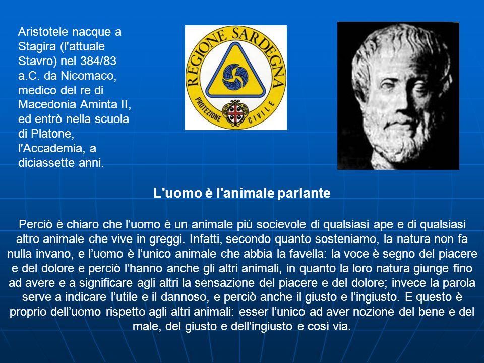 Aristotele nacque a Stagira (l attuale Stavro) nel 384/83 a.C.
