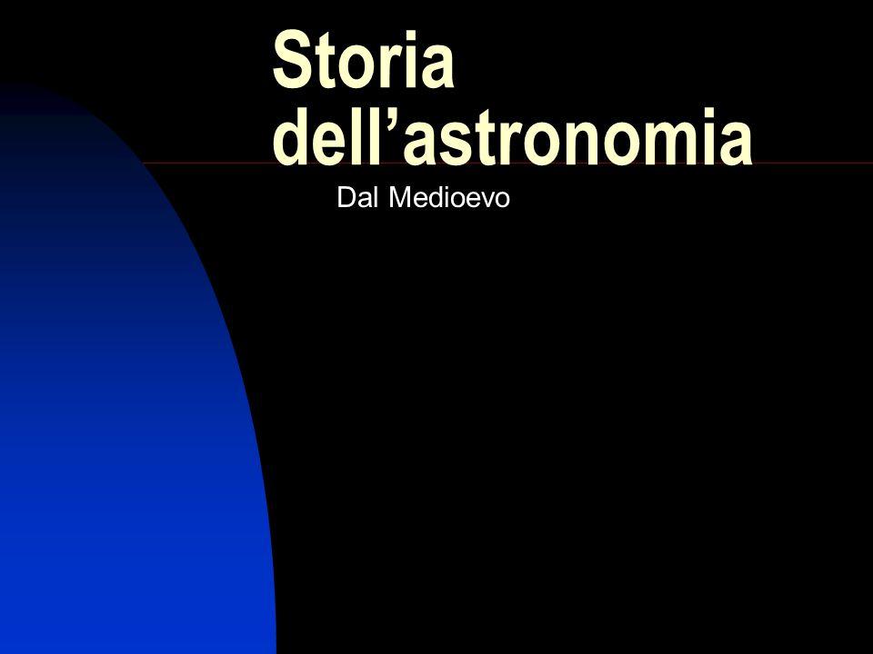 Storia dell'astronomia Dal Medioevo