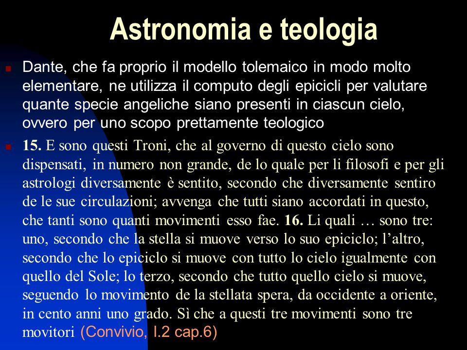 Irrealtà cosmologica dell'astronomia Con le modifiche di Tolomeo, il modello geocentrico acquista in precisione, secondo l'intendimento dell'astronomia matematica, ma perde in verità fisica, contraddicendo l'intendimento della cosmologia.