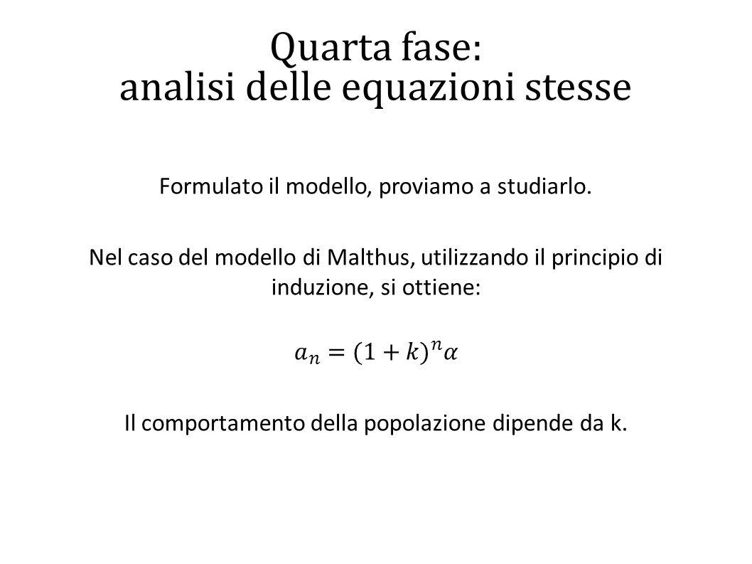 Quarta fase: analisi delle equazioni stesse