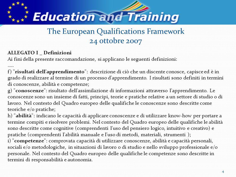 4 Definizioni ALLEGATO I _ Definizioni Ai fini della presente raccomandazione, si applicano le seguenti definizioni: …..