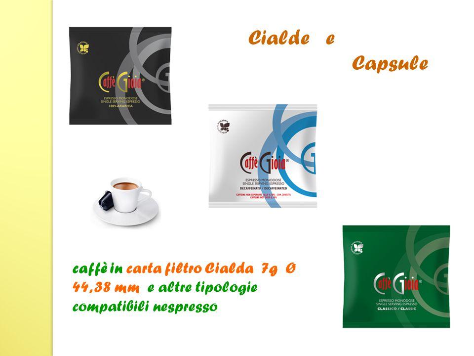 caffè in carta filtro Cialda 7g Ø 44, 38 mm e altre tipologie compatibili nespresso Cialde e …… Capsule