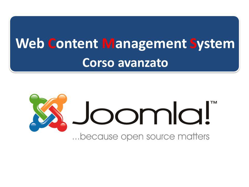 Web Content Management System Corso avanzato