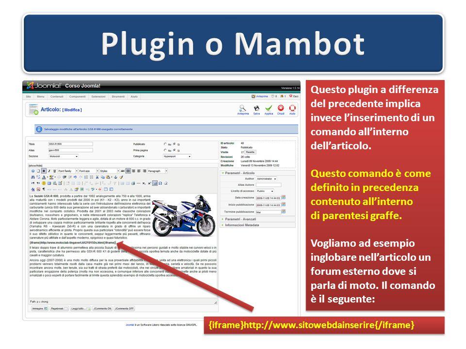 Questo plugin a differenza del precedente implica invece l'inserimento di un comando all'interno dell'articolo. Questo comando è come definito in prec