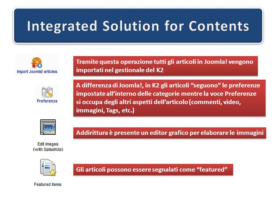 Tramite questa operazione tutti gli articoli in Joomla! vengono importati nel gestionale del K2 Tramite questa operazione tutti gli articoli in Joomla