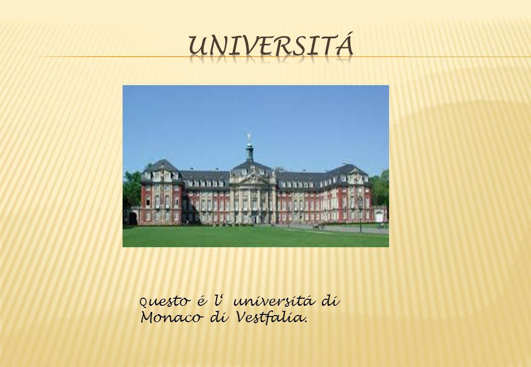 Q uesto é l' universitá di Monaco di Vestfalia.
