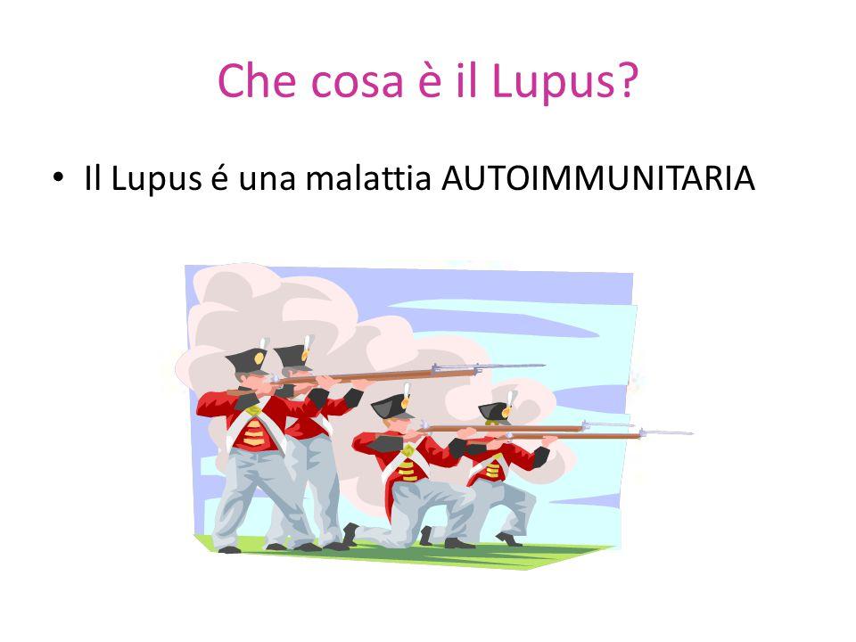 Che cosa è il Lupus? Il Lupus é una malattia AUTOIMMUNITARIA