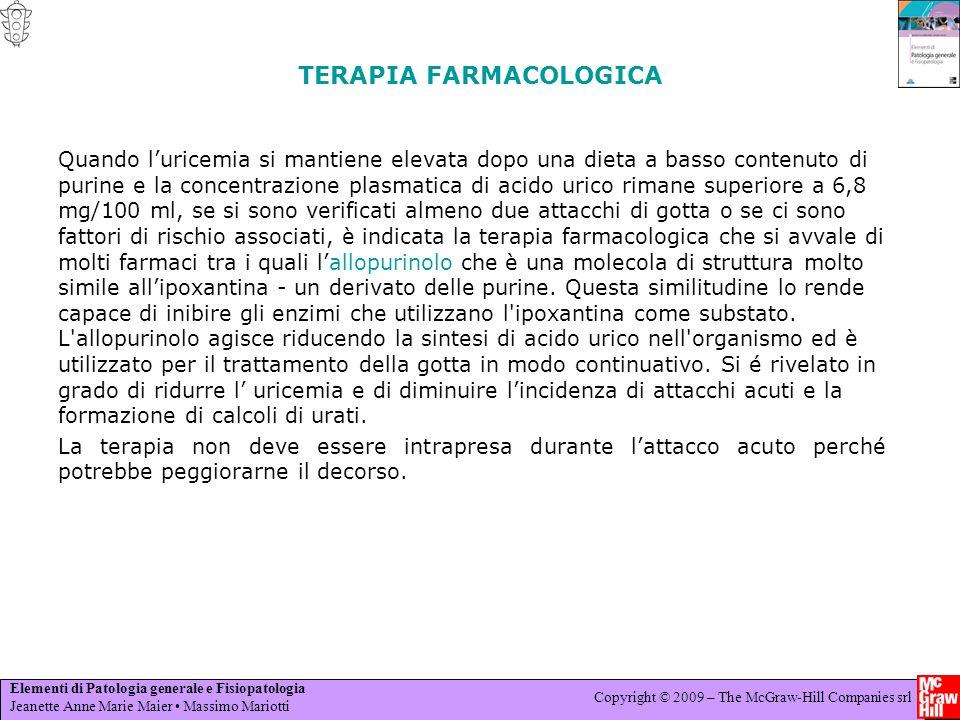 Elementi di Patologia generale e Fisiopatologia Jeanette Anne Marie Maier Massimo Mariotti Copyright © 2009 – The McGraw-Hill Companies srl TERAPIA FA