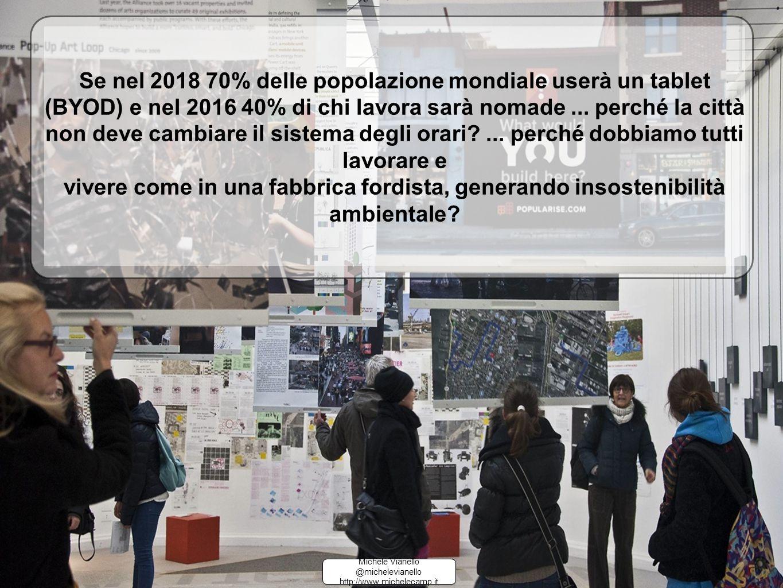 Se nel 2018 70% delle popolazione mondiale userà un tablet (BYOD) e nel 2016 40% di chi lavora sarà nomade...