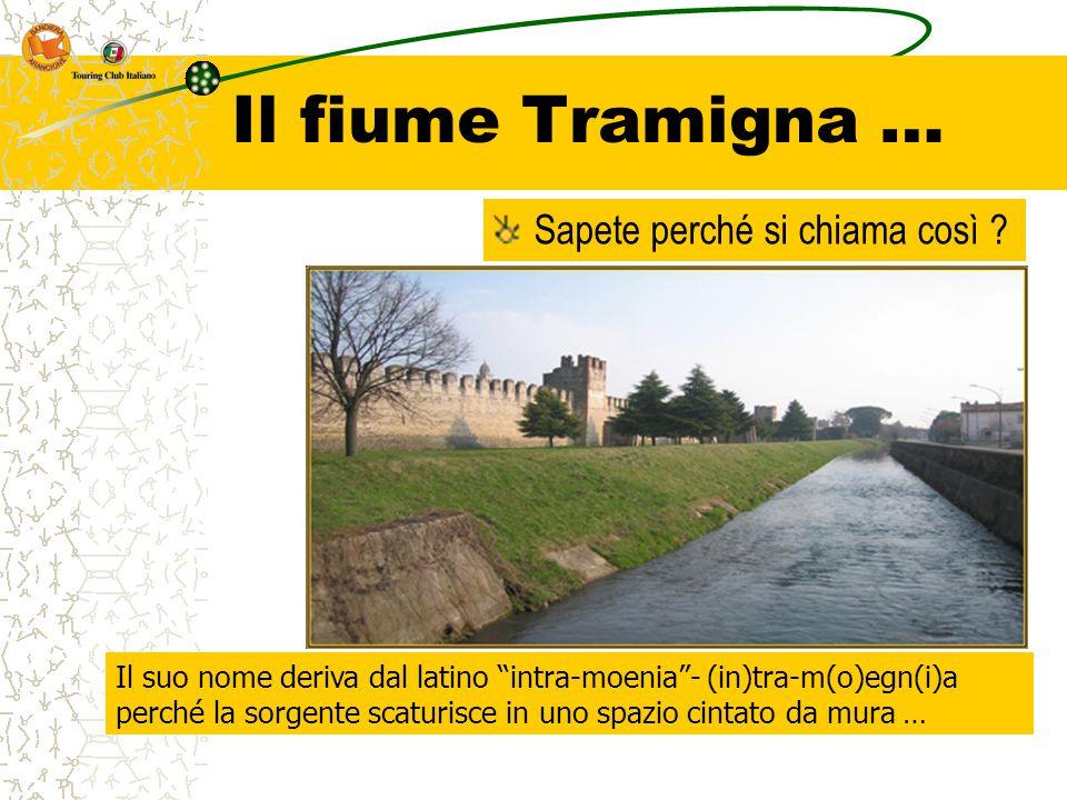 """Il fiume Tramigna … Sapete perché si chiama così ? Il suo nome deriva dal latino """"intra-moenia""""- (in)tra-m(o)egn(i)a perché la sorgente scaturisce in"""