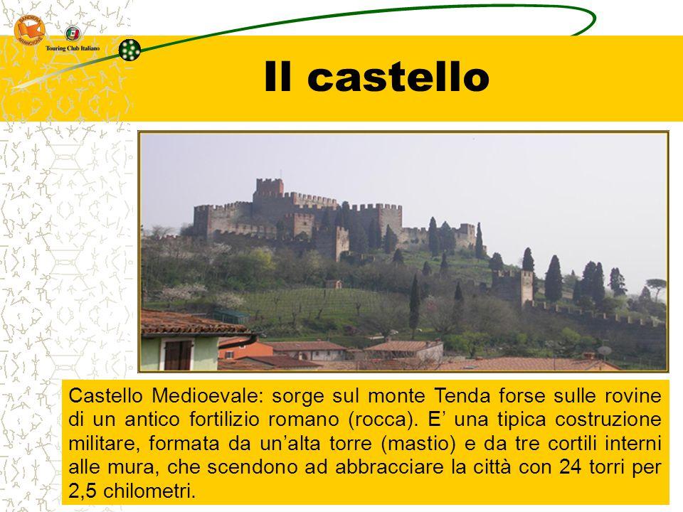 Il castello Castello Medioevale: sorge sul monte Tenda forse sulle rovine di un antico fortilizio romano (rocca). E' una tipica costruzione militare,