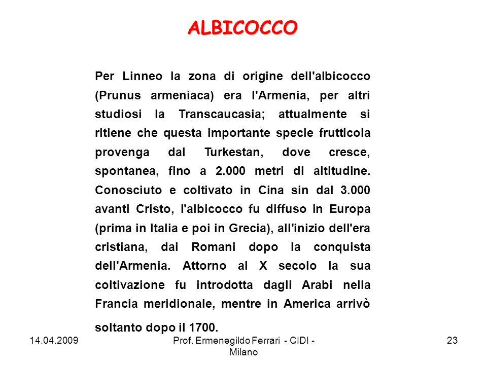 Per Linneo la zona di origine dell'albicocco (Prunus armeniaca) era l'Armenia, per altri studiosi la Transcaucasia; attualmente si ritiene che questa