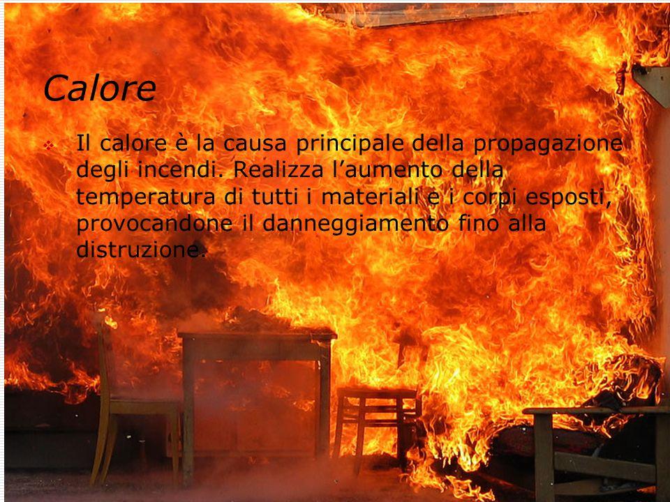 Dott. Ing. Valter Melotti 15 Calore  Il calore è la causa principale della propagazione degli incendi. Realizza l'aumento della temperatura di tutti