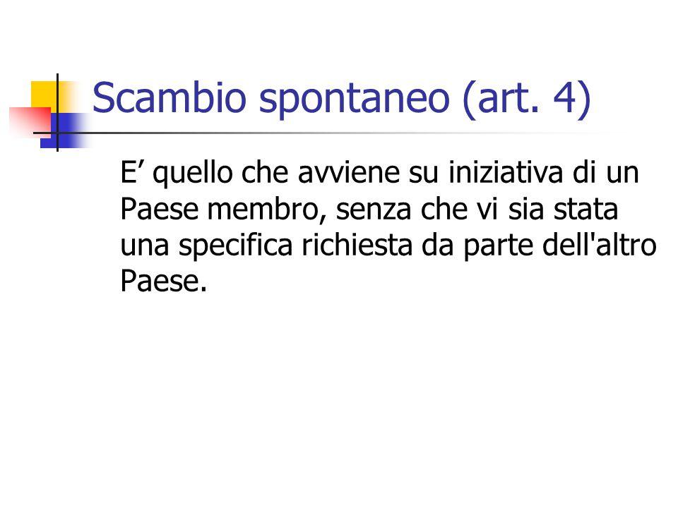 Scambio spontaneo (art.