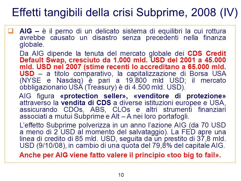  AIG – è il perno di un delicato sistema di equilibri la cui rottura avrebbe causato un disastro senza precedenti nella finanza globale. Da AIG dipen