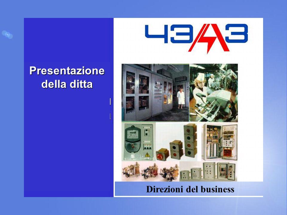 Presentazione della ditta Direzioni del business