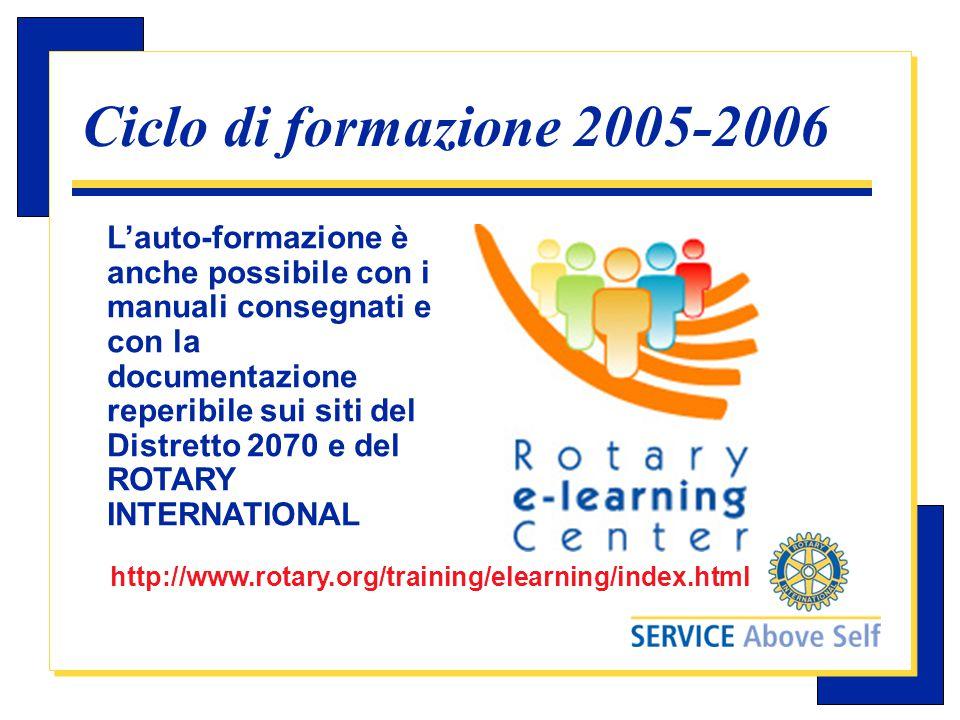 Carlo Michelotti, Gov.Distr.1980 (1996/97) Direttive del RI  Per i singoli seminari il RI ha emanato delle direttive che indicano la materia da trattare e la data raccomandata.