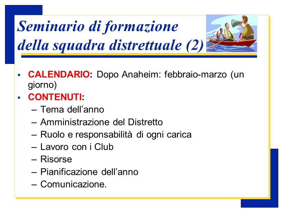 Carlo Michelotti, Gov.Distr.1980 (1996/97) Seminario di formazione della squadra distrettuale (3)  SUPERVISIONE: il DGE dirige il seminario.