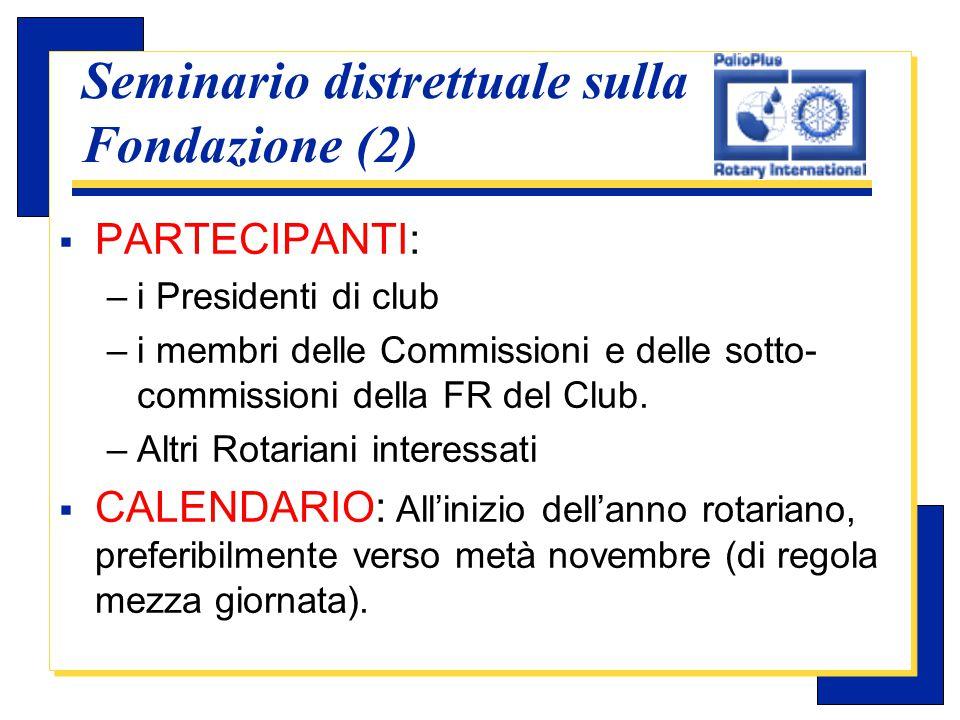 Carlo Michelotti, Gov.Distr.1980 (1996/97) Seminario distrettuale sulla Fondazione (3)  SUPERVISIONE: il Governatore é responsabile dell'intero programma del seminario.