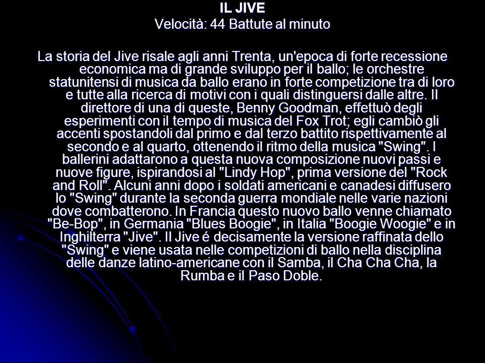 LA RUMBA Velocità: 27 Battute al minuto La storia della Rumba é presente nella cultura dell isola di Cuba da secoli.