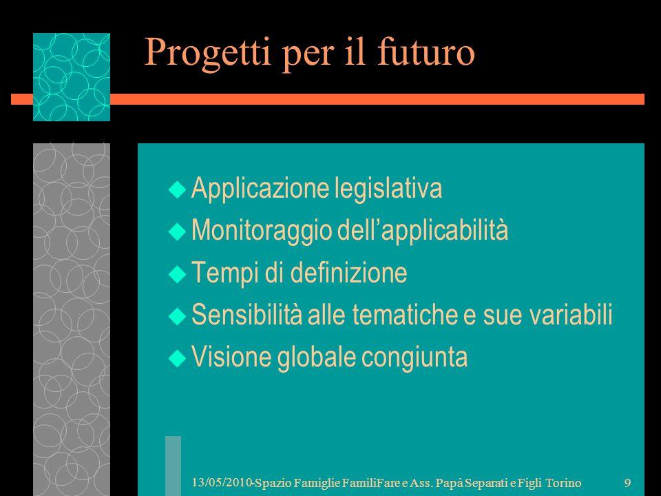 13/05/2010 -Spazio Famiglie FamiliFare e Ass. Papà Separati e Figli Torino8 BIGENITORIALITA'