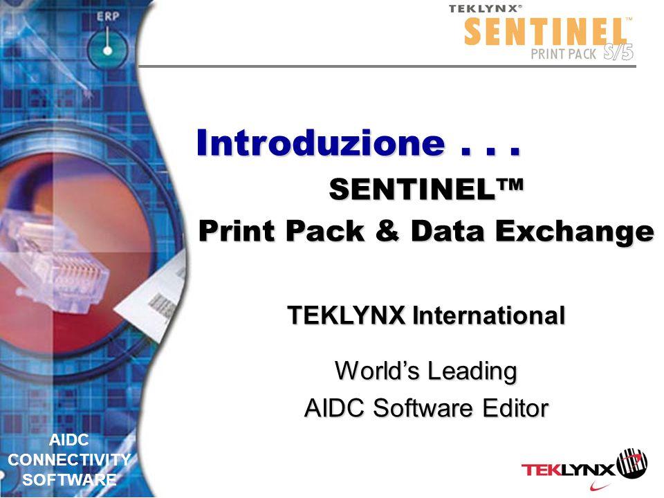 AIDC CONNECTIVITY SOFTWARE Reporting TCP/IPTCP/IP –Invia i rapporti dei dati trattati