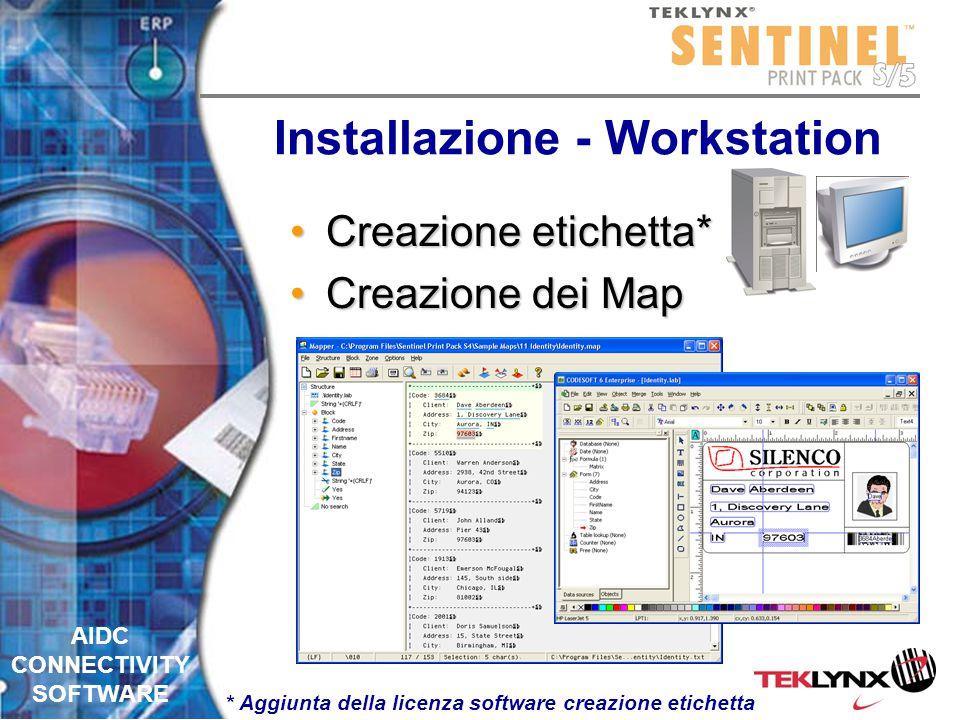 AIDC CONNECTIVITY SOFTWARE Installazione - Server Setup inizialeSetup iniziale Elaborazione in tempo realeElaborazione in tempo reale StampaStampa