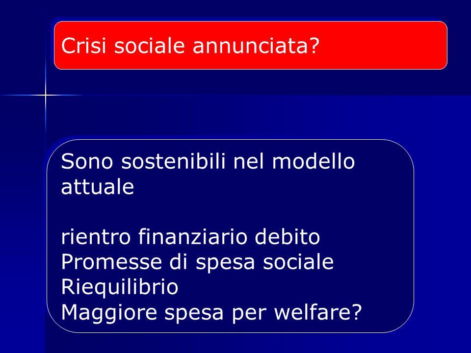 Crisi sociale annunciata.