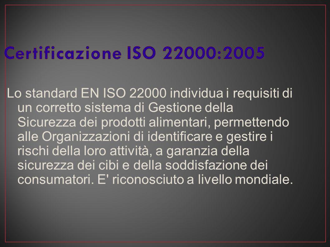 Lo standard EN ISO 22000 individua i requisiti di un corretto sistema di Gestione della Sicurezza dei prodotti alimentari, permettendo alle Organizzaz