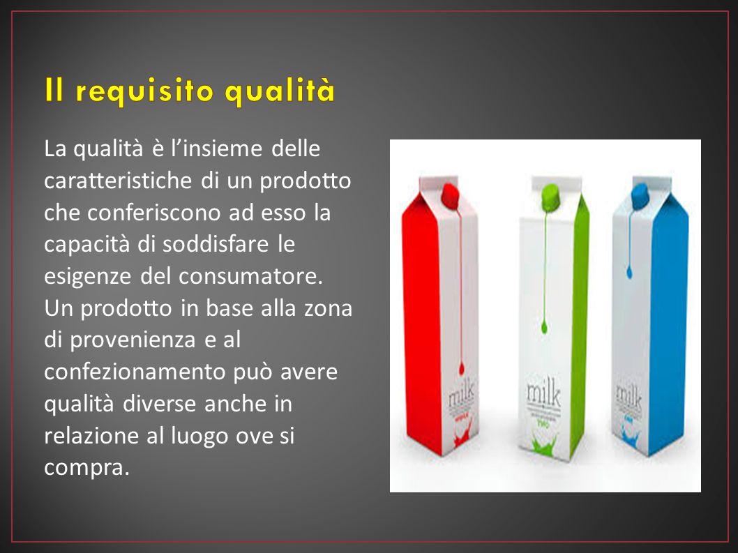La qualità è l'insieme delle caratteristiche di un prodotto che conferiscono ad esso la capacità di soddisfare le esigenze del consumatore. Un prodott