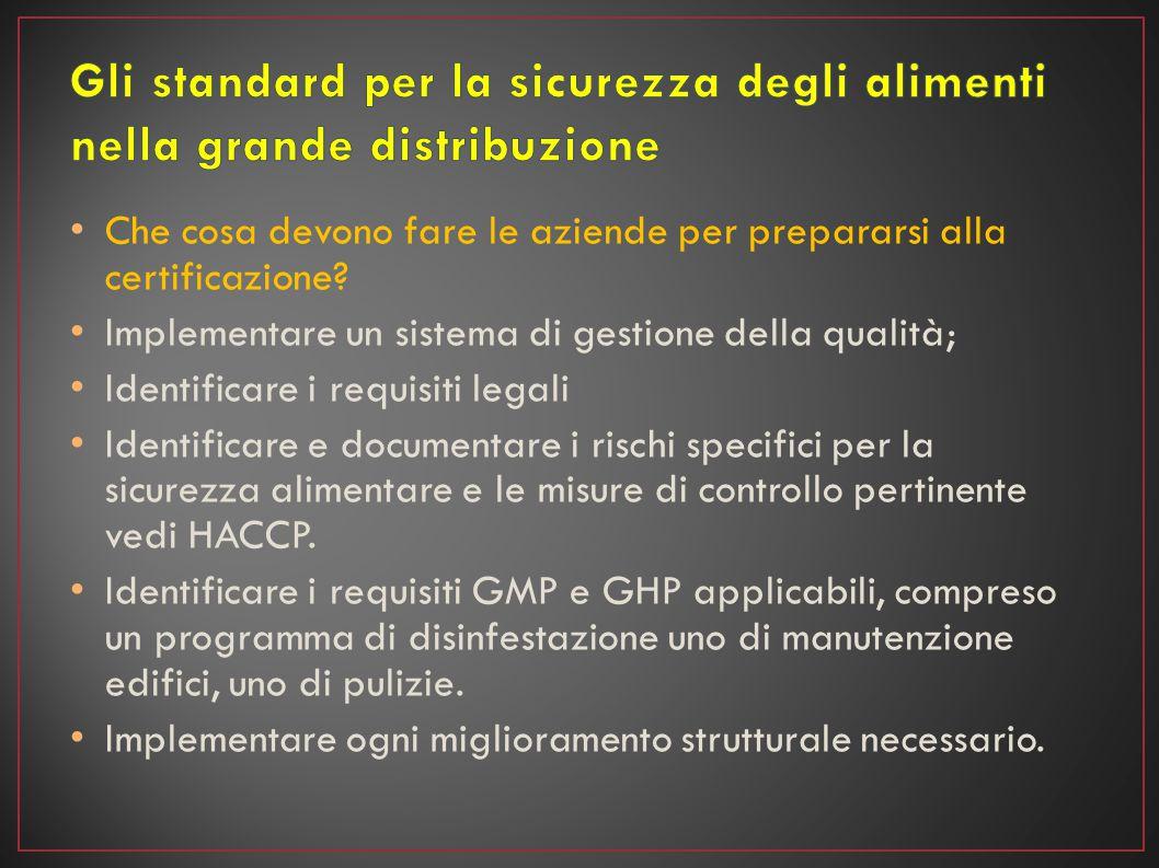 Che cosa devono fare le aziende per prepararsi alla certificazione? Implementare un sistema di gestione della qualità; Identificare i requisiti legali