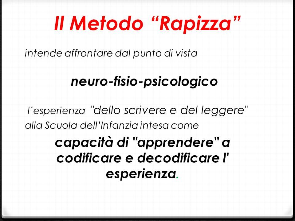 """Il Metodo """"Rapizza"""" intende affrontare dal punto di vista neuro-fisio-psicologico l'esperienza"""