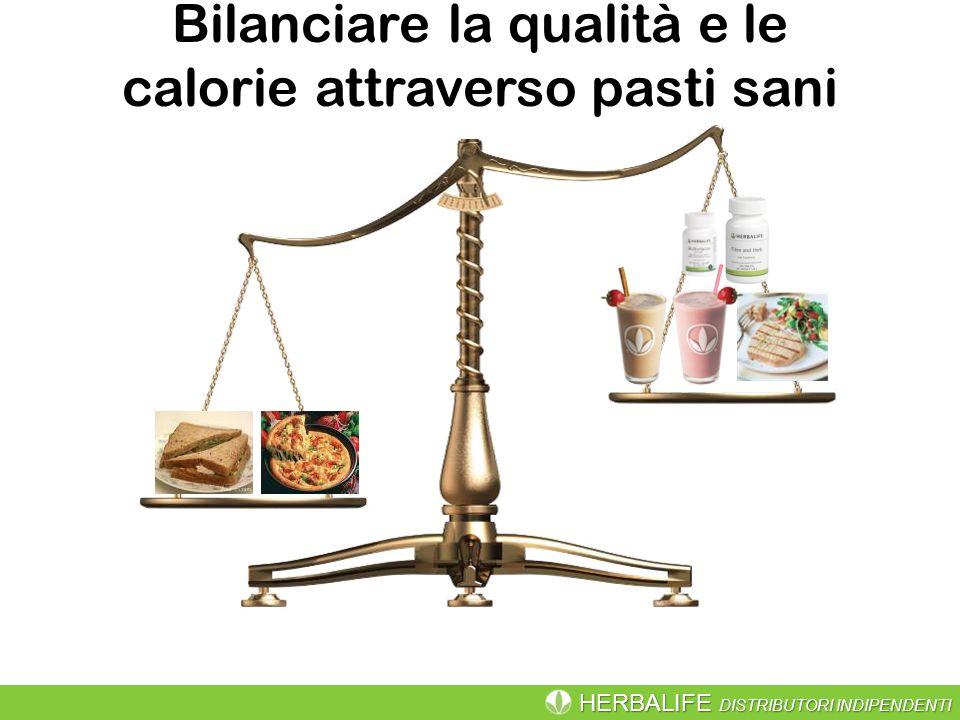 HERBALIFE DISTRIBUTORI INDIPENDENTI Bilanciare la qualità e le calorie attraverso pasti sani
