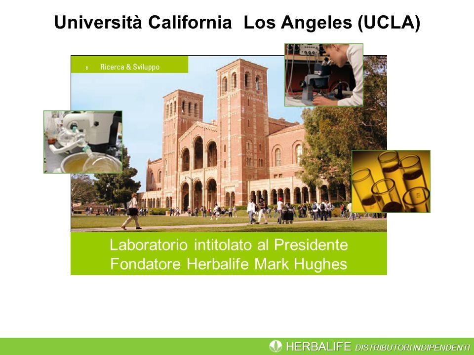 HERBALIFE DISTRIBUTORI INDIPENDENTI Università California Los Angeles (UCLA) Laboratorio intitolato al Presidente Fondatore Herbalife Mark Hughes