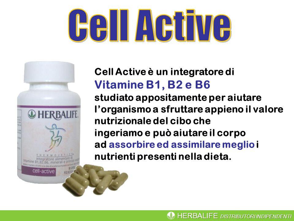 HERBALIFE DISTRIBUTORI INDIPENDENTI Cell Active è un integratore di Vitamine B1, B2 e B6 studiato appositamente per aiutare l'organismo a sfruttare ap