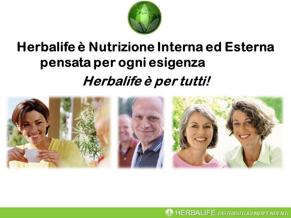 Herbalife è Nutrizione Interna ed Esterna pensata per ogni esigenza Herbalife è per tutti!