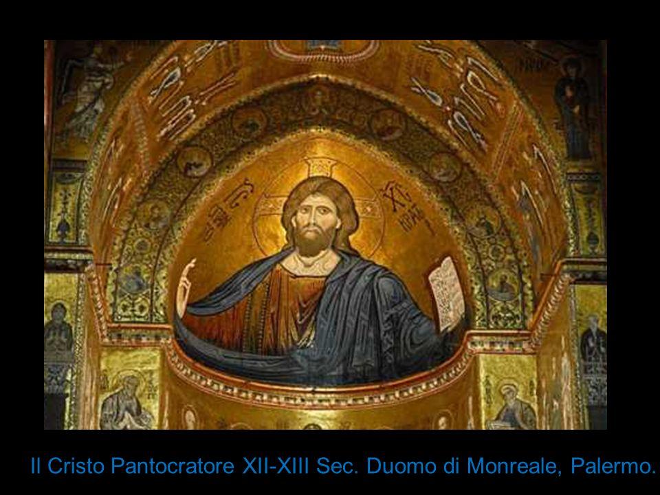 Il Cristo Pantocratore XII-XIII Sec. Duomo di Monreale, Palermo.