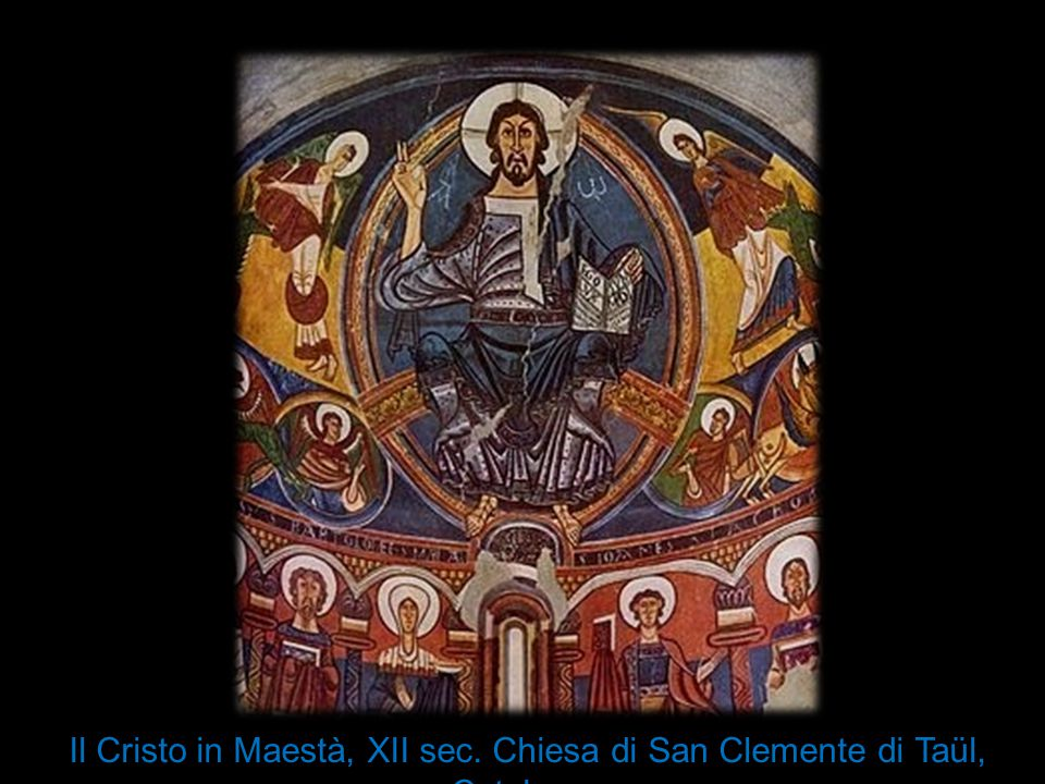 Il Cristo in Maestà, XII sec. Chiesa di San Clemente di Taül, Catalogna