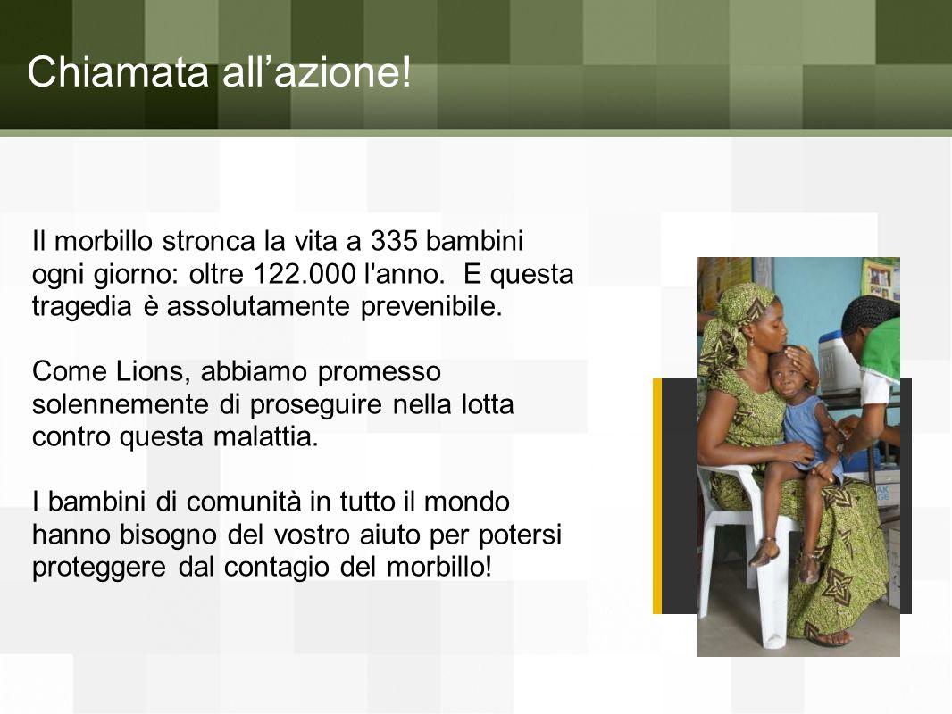 D. Il morbillo interessa ogni parte del mondo Focolai epidemici del 2013 Quiz sul morbillo