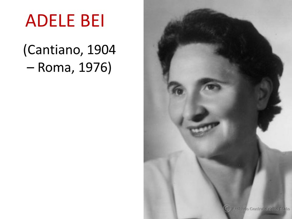 ADELE BEI (Cantiano, 1904 – Roma, 1976)