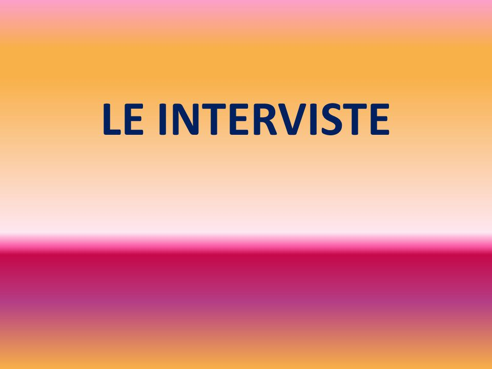 LE INTERVISTE