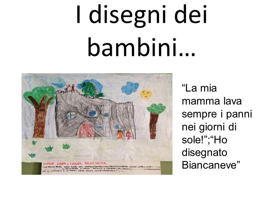 """I disegni dei bambini… """"La mia mamma lava sempre i panni nei giorni di sole!"""";""""Ho disegnato Biancaneve"""""""