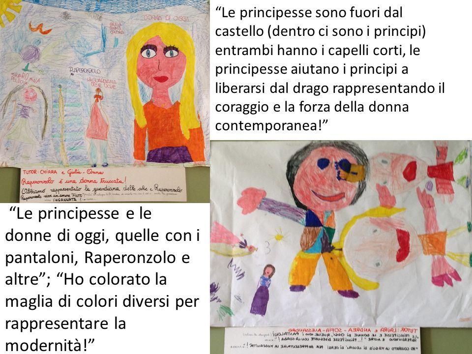 """""""Le principesse sono fuori dal castello (dentro ci sono i principi) entrambi hanno i capelli corti, le principesse aiutano i principi a liberarsi dal"""