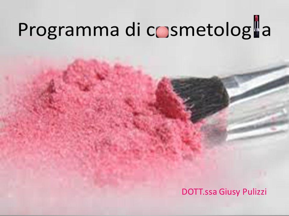 Programma del corso ORIGINE DELLA COSMESI: usi dei cosmetici, definizione di prodotto cosmetico, classificazione dei cosmetici, caratteristiche e assicurazione di qualità.