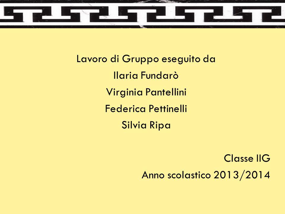 Lavoro di Gruppo eseguito da Ilaria Fundarò Virginia Pantellini Federica Pettinelli Silvia Ripa Classe IIG Anno scolastico 2013/2014