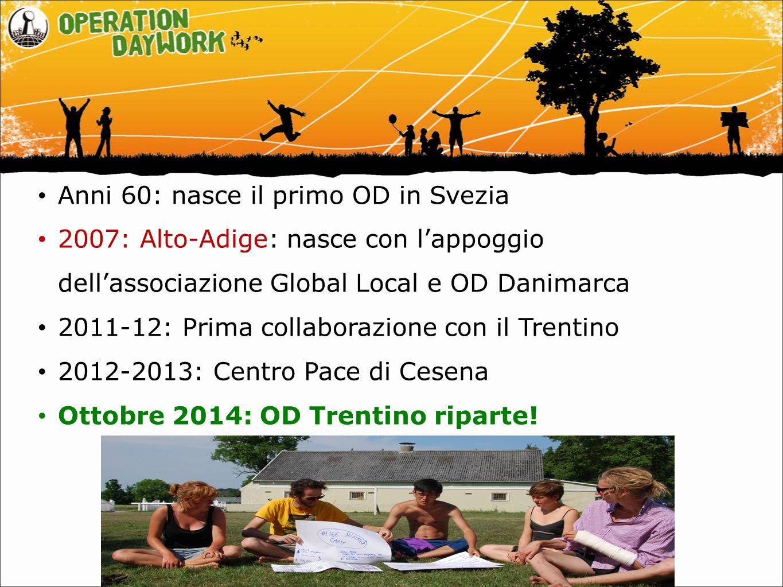 Anni 60: nasce il primo OD in Svezia 2007: Alto-Adige: nasce con l'appoggio dell'associazione Global Local e OD Danimarca 2011-12: Prima collaborazion