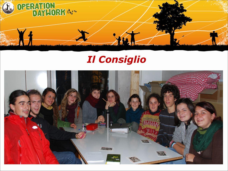 Il Consiglio In Alto Adige é composto da 13 studenti Organizza il giorno d´azione e la campagna di sensiblizzaione Coordina i gruppi scuola-OD Mantiene i rapporti con le istituzioni coinvolte (Istituti, Assessorato scuola, Ufficio affari di gabinetto, Mezzi di comunicazione, ONGs)