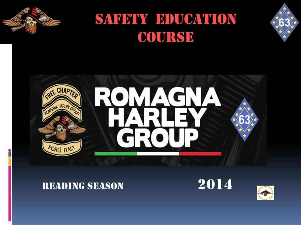 SAFETY FOR RIDE SAFETY EDUCATION course Reading season 2014